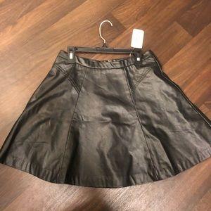 Brand New: Forever 21 black leather skirt size S